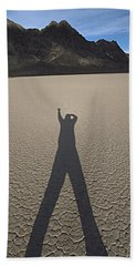 Hand Towel featuring the photograph Shadowman by Joe Schofield