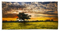 Shadows At Sunset Bath Towel by Debra and Dave Vanderlaan