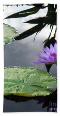 Shadows On A Lily Pond Bath Towel
