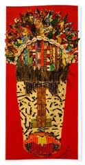 Shaka Zulu Hand Towel by Apanaki Temitayo M