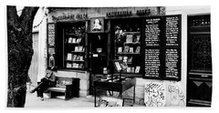Shakespeare And Company Boookstore In Paris France Hand Towel