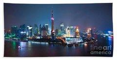 Shanghai Panorama Hand Towel