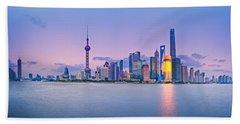 Shanghai Pudong Skyline  Hand Towel