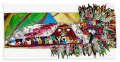 Hand Towel featuring the tapestry - textile Shango Firebird by Apanaki Temitayo M