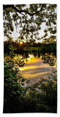 Hand Towel featuring the photograph Shannon River Sunset At Roosky by James Truett
