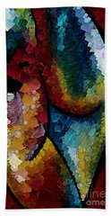 Hand Towel featuring the digital art Shapeliness I by Dragica  Micki Fortuna