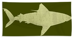 Shark Hand Towel by Michelle Calkins