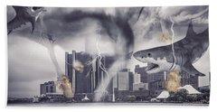 Bath Towel featuring the photograph Sharknado Detroit by Nicholas  Grunas