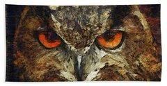 Sharpie Owl Bath Towel
