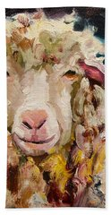 Sheep Alert Hand Towel