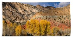Sheep Canyon In Autumn Hand Towel