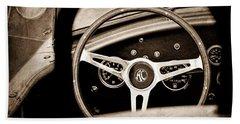 Shelby Ac Cobra Steering Wheel Emblem Bath Towel
