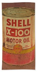 Shell Motor Oil Bath Towel