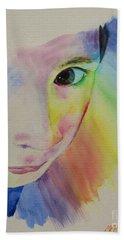 She's A Rainbow Bath Towel by Martin Howard