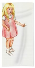 Hand Towel featuring the pastel Shez by Kim Pate