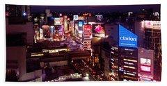 Shibuya Station Aerial View Tokyo Bath Towel