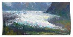 Shifting Light - Matanuska Glacier Bath Towel