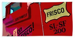 Ship It On The Frisco Hand Towel by Deena Stoddard