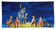 Ship Of Fools Bath Towel by Matt Konar