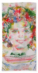 Shirley Temple - Watercolor Portrait.1 Hand Towel