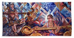 Shiva Parvati Bath Towel by Harsh Malik