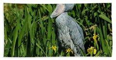 Shoebill Stork Bath Towel
