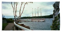 Shore Path In Bar Harbor Maine Hand Towel