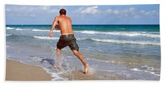 Shore Play Bath Towel by Keith Armstrong