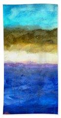 Shoreline Abstract Bath Towel
