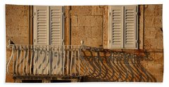 Shutters And Shadows - Hvar Croatia Hand Towel