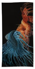 Siamese Fighting Fish Two Hand Towel