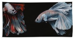 Siamese Fighting Fish  Hand Towel