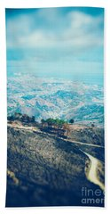 Bath Towel featuring the photograph Sicilian Land After Fire by Silvia Ganora