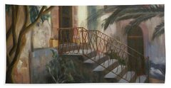 Bath Towel featuring the painting Sicilian Nunnery by Donna Tuten