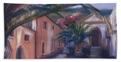 Bath Towel featuring the painting Sicilian Nunnery II by Donna Tuten