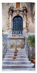 Sicilian Village Steps And Door Hand Towel