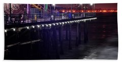 Side Of The Pier - Santa Monica Bath Towel