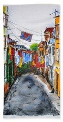 Side Street Bath Towel by Zaira Dzhaubaeva