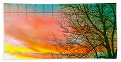 Sierra Sunset Cubed Hand Towel by Mayhem Mediums