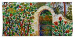 Hand Towel featuring the painting Siesta Key Archway by Lou Ann Bagnall