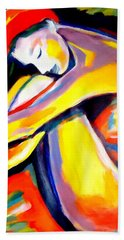 Hand Towel featuring the painting Silence by Helena Wierzbicki