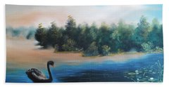 Hand Towel featuring the painting Silence by Vesna Martinjak