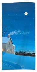 Silent Night Bath Towel by Norm Starks