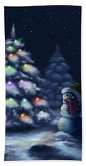 Silent Night Hand Towel