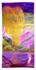 Silent Waters, Silver Birch And Egret Bath Towel