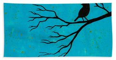 Silhouette Blue Bath Towel