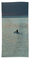 Silhouette Of A Person Driving Jet Ski Bath Towel