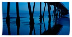 Silhouette Of A Pier, Hermosa Beach Hand Towel