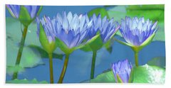 Hand Towel featuring the photograph Silken Lilies by Holly Kempe