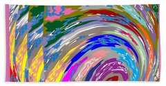 Colorful Fineart Silken Spiral Waves Pattern Decorative Art By Navinjoshi At Fineartamerica.com Hand Towel